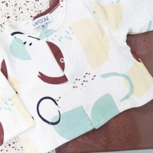cardigan gilet bébé enfant made in france coton bio