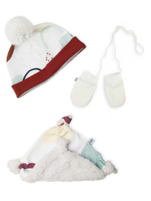 coffret kit pack cadeau naissance bonnet moufles doudou made in france