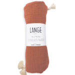 lange bébé coton bio made in france kapoune brique