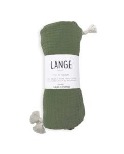 maxi lange bébé kaki coton bio
