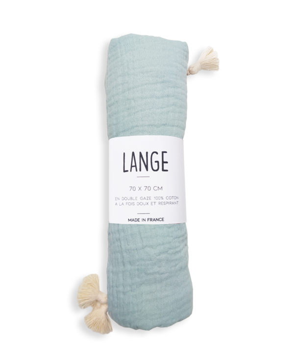 lange bebe coton bio menthe made in france gots