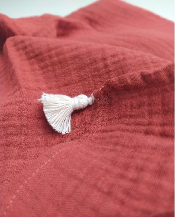 lange bébé coton bio made in france kapoune tomette
