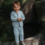 sarouel bébé made in france menthe coton bio