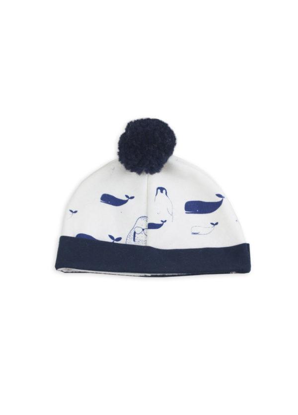 bonnet bebe unisex balene motif original
