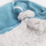 doudou plat bleu blanc made in france cadeaux bébé coton bio kapoune