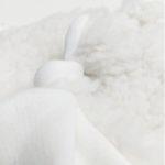 doudou plat en coton bio carre noeud made in france
