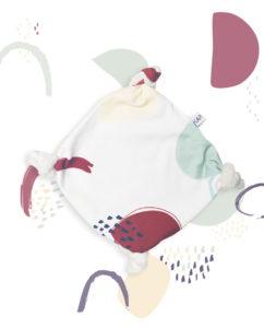 doudou plat bébé coton bio noeuds made in france kapoune