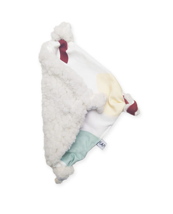 doudou plat bébé kapoune made in france coton bio original
