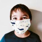 masque imprime coton bio