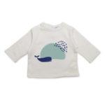 t shirt bebe original baleine manches longues