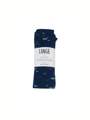 lange bebe bio original made in france marine