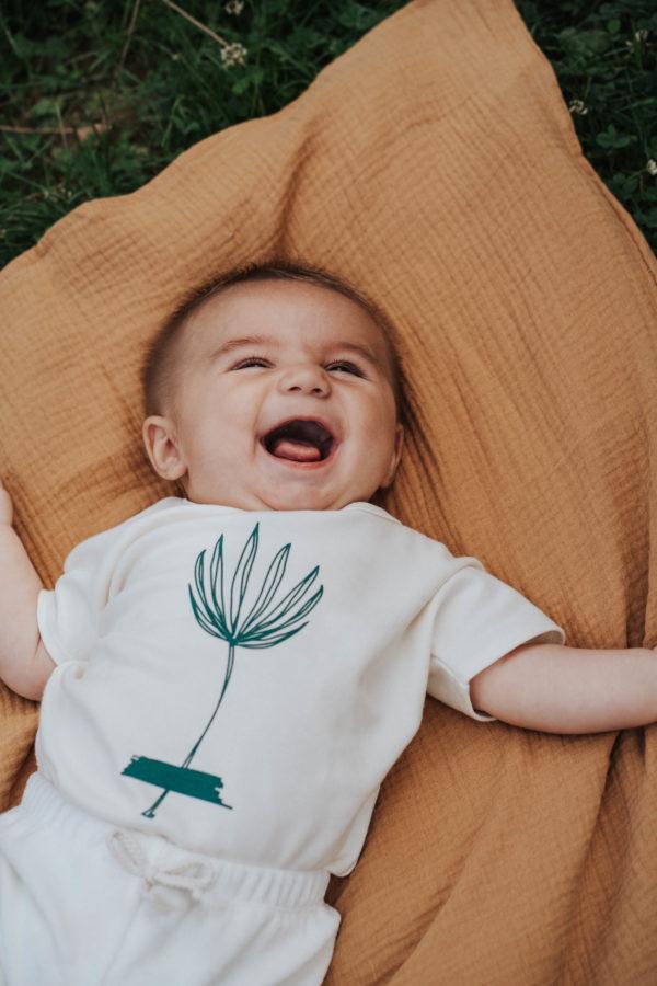 Lange bébé coton bio kapoune camal made in france