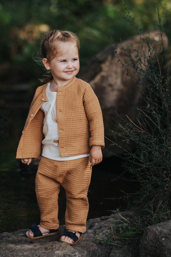 sarouel pantalon pour bebe original camel