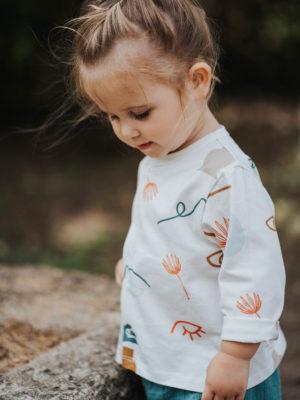 gilet pour bebe et enfant original imprimé coloré