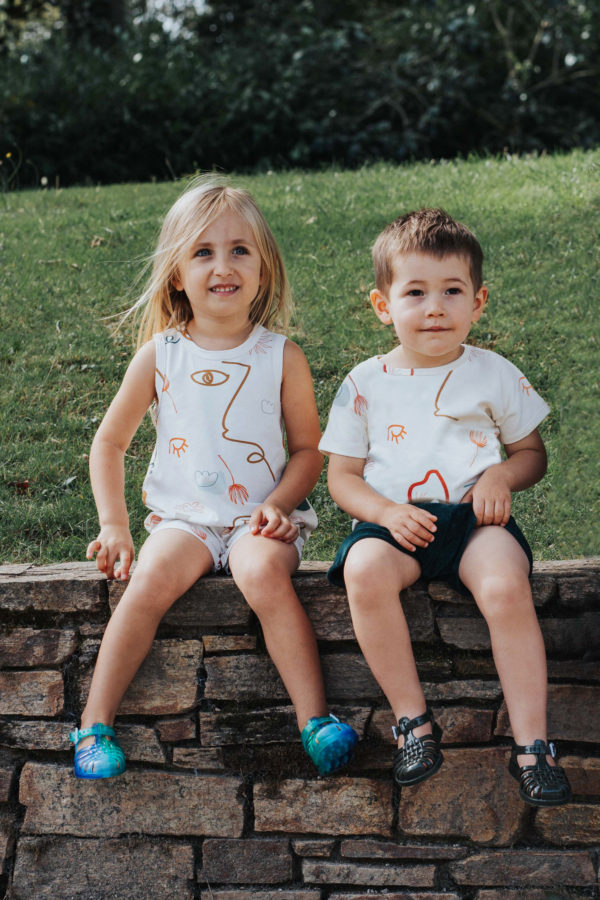 tshirt pour enfant hortensia coloré