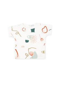 t-shirt pour bebe et enfant original hortensia