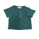 tee shirt bebe coton bio vert unisex