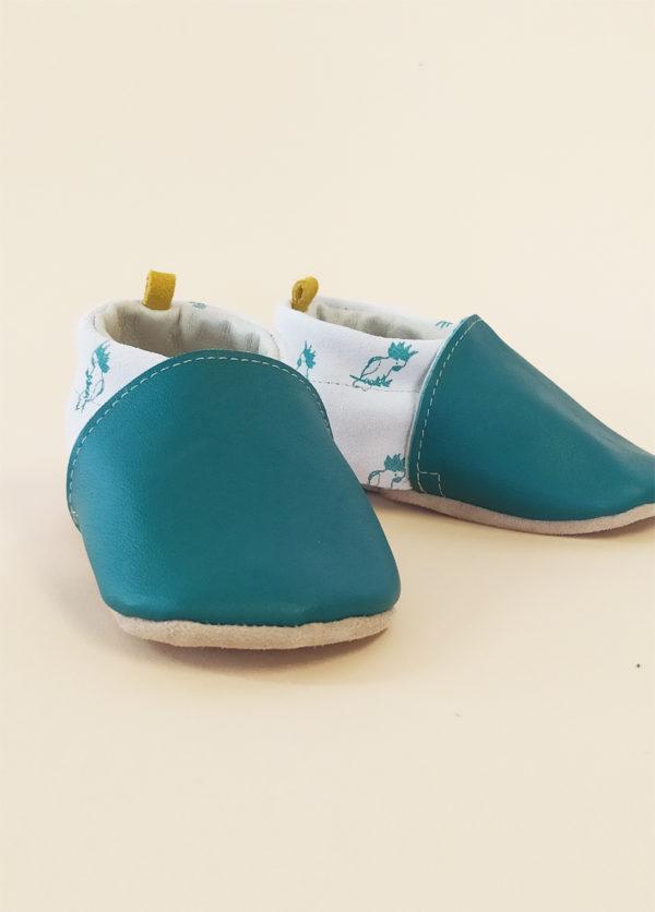 chaussons bébé cuir souple semelle amovible marine premiers pas kapoune nantes