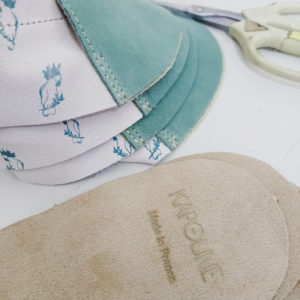 chaussons bébé cuir souple made in france cadeau