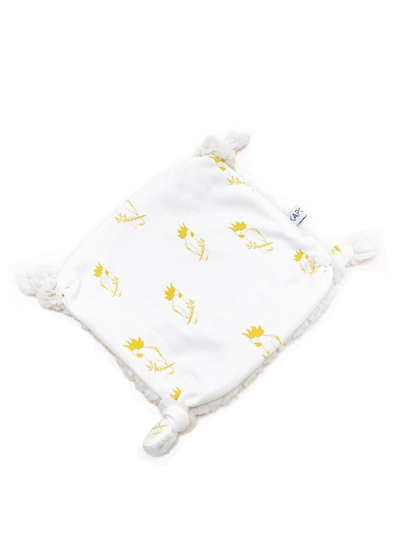 doudou plat bébé kapoune cadeau naissance made in france coton bio