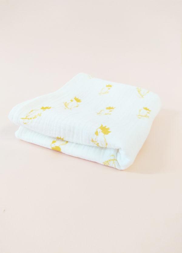 lange bébé coton bio made in france cadeau naissance mixte kapoune 70X70 cm