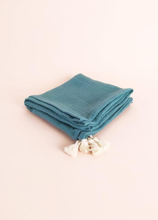 lange bébé coton bio made in france cadeau naissance mixte kapoune