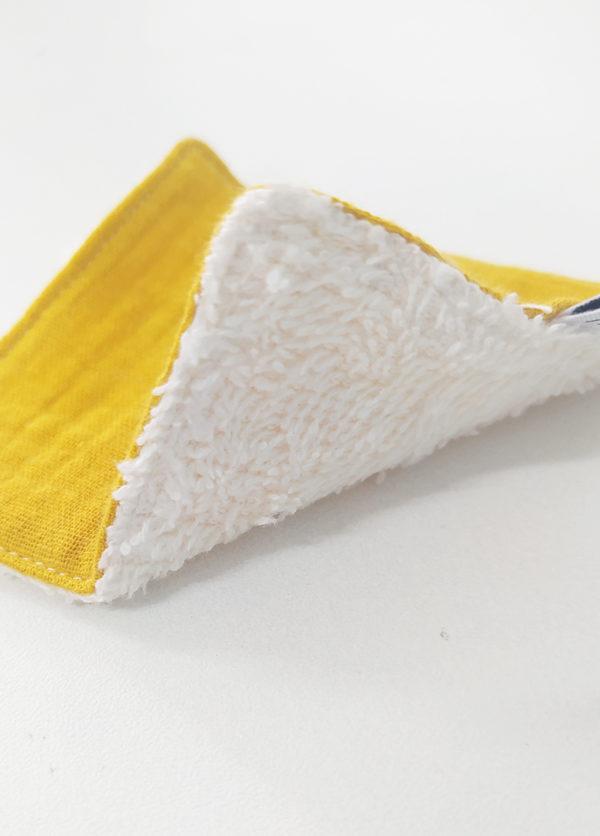 lot lingettes lavable coton x 5 démaquillant zéro déchet made in france kapoune nantes