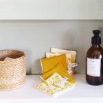 lot lingettes lavables cotons démaquillants zéro déchet kapoune made in france coton bio moutarde