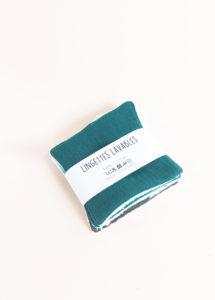 lot lingettes lavable coton x 5 démaquillant zéro déchet made in france kapoune nantes sapin