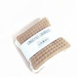 lot lingettes lavable coton x 5 démaquillant zéro déchet made in france kapoune nantes camel