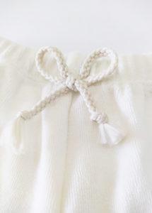 short bebe ecru eponge coton made in france
