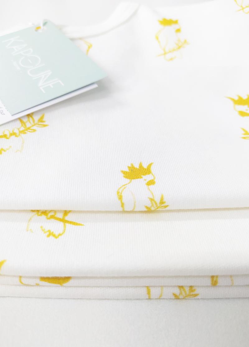 tee shirt enfant bébé coton bio made in france kapoune aras gots
