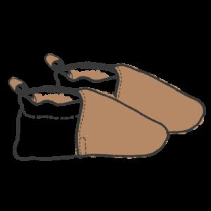 Dessin de chaussons en cuir