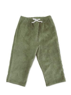 pantalon bébé enfant velours kaki made in france unisexe coton bio kaki