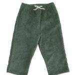 pantalon bébé velours vieux vert made in france coton bio kapoune