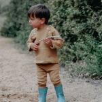 legging bébé mixte enfant coton bio camel
