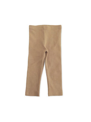 legging enfant bébé coton bio camel unisexe made in france