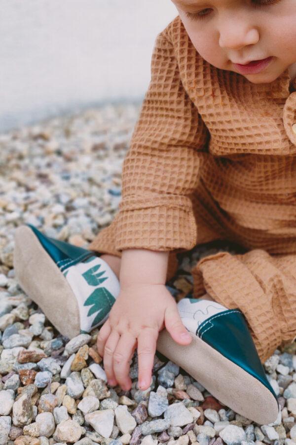 chaussons bebe kaki originaux