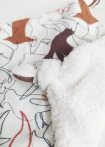 doudou plat bébé cadeau naissance coton bio