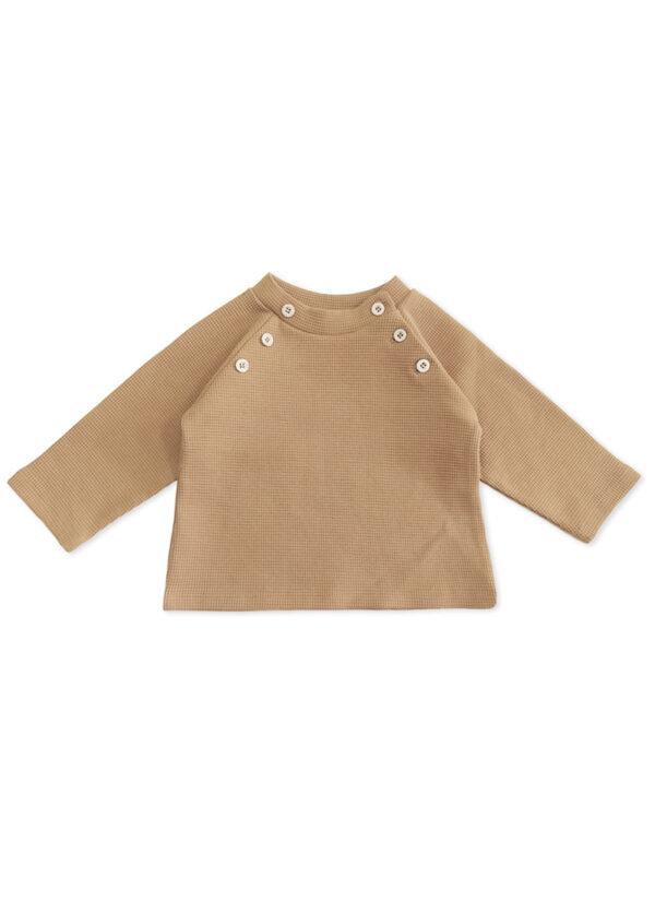 pull bébé enfant coton bio camel made in france