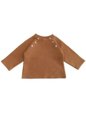 pull bebe enfant coton bio cognac