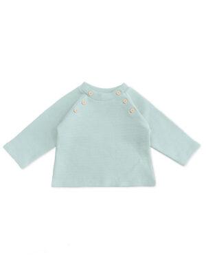 pull bebe enfant menthe coton bio unisex vetement bebe mixte made in france