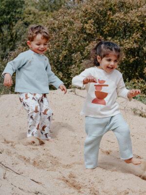 pull bebe enfant menthe coton bio original basic made in france