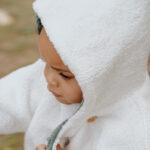 manteaux bébé moumoute réversible velours made in france